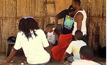Bastimentos mensen in Bocas del Toro, Panama