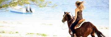 Paardrijden in Bocas del Toro, Panama