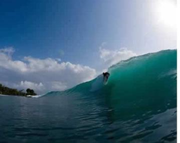 Surfen in Carenero in Bocas del Toro, Panama