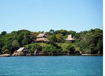 Cayo de Agua Island in Bocas del Toro, Panama