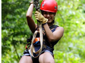 Zipline Canopy Tour door Red Frog Beach in Bastimentos, Bocas del Toro